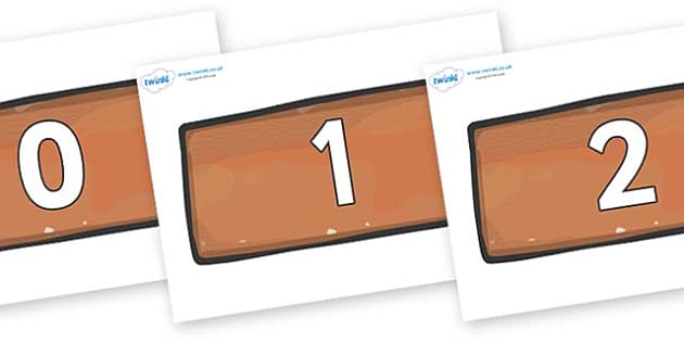 Numbers 0-31 on Bricks - 0-31, foundation stage numeracy, Number recognition, Number flashcards, counting, number frieze, Display numbers, number posters