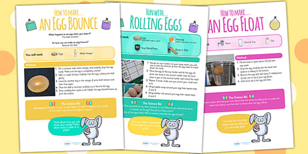 Egg Science Experiments At Home - science, science game, homework