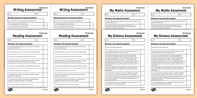 KS2 Exemplifications - I Can Statements Checklist Pack