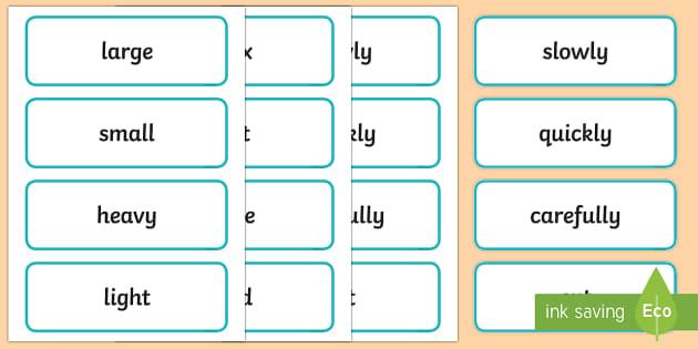Early Stage 1 Procedure Language Word Cards - Literacy, kindergarten, description, language, spelling, vocabulary, display words, word wall, Austr