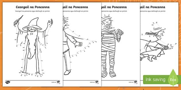 Ceangail na Poncanna, Oíche Shamhna Senior Activity Sheets Gaeilge