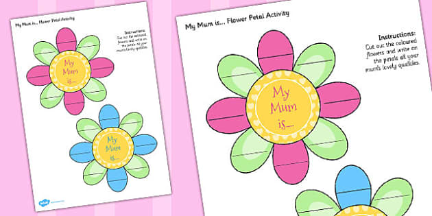 Australia Mother's Day Flower Petal Activity