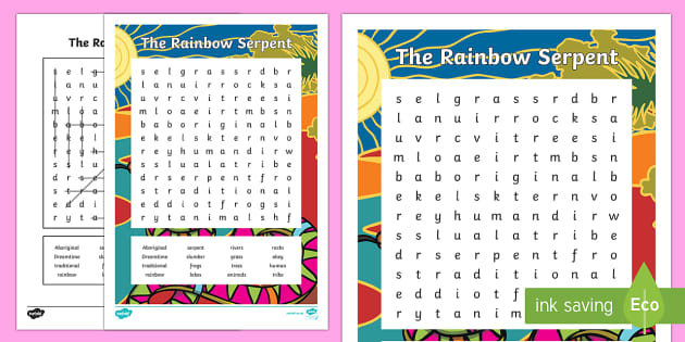 The Rainbow Serpent Word Search