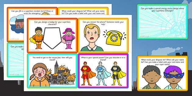 Superhero Role Play Challenge Cards - challenge cards, superhero