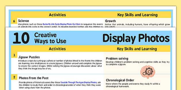10 Creative Ways to Use Photo Display Cards - photo, display