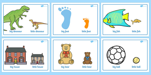Big And Little Comparison Display Posters - big and little, comparison, display, poster, sign, big, little, size, sizes, comparing, compare, small, big