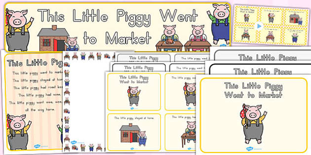 This Little Piggy Resource Pack - pigs, resources, nursery, rhyme