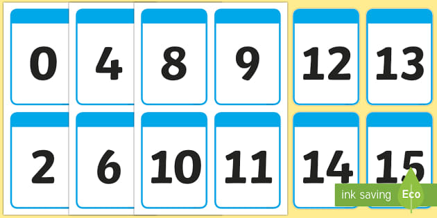 Number Digit Cards (0-100) - Numeracy, digit card, math, number recognition, counting