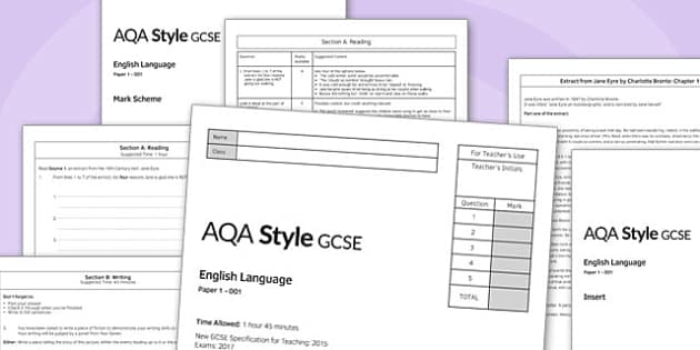 GCSE English Language Exam Paper 1 AQA - gcse, english, language, exam, paper, aqa