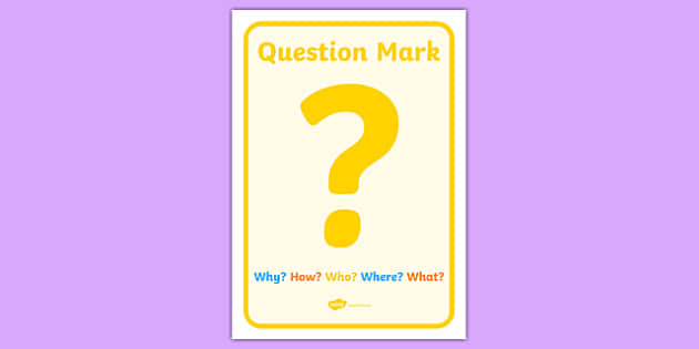 Simple Question Mark Display Poster - simple question mark, display poster, display, poster, question mark, punctuation