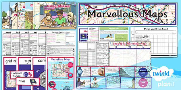 PlanIt - Geography Year 5 - Marvellous Maps Unit Pack - planit, unit, pack