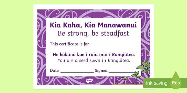 Celebrating the Child  Kia kaha, kia manawanui Certificates - whakanui, celebrate, tamaiti, child, maori whakatauki,, certificates, kia kaha, kia manawanui