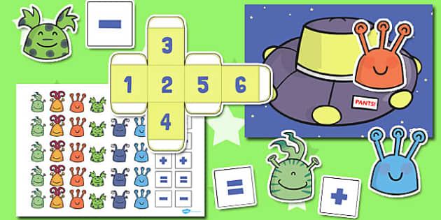 Alien Counting Activity to Support Teaching on Aliens Love Underpants - australia, aliens, underpants