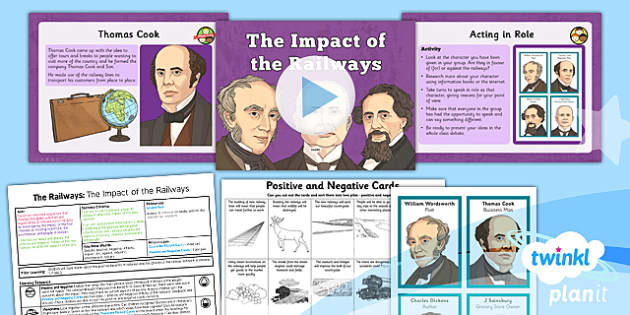 PlanIt - History LKS2  The Railways Lesson 5: The Impact of the Railways Lesson Pack