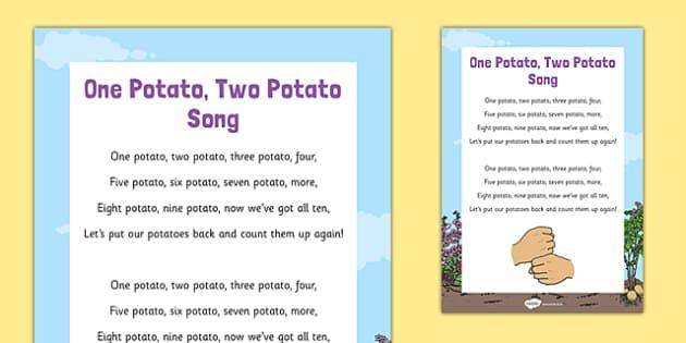 One Potato, Two Potato Song