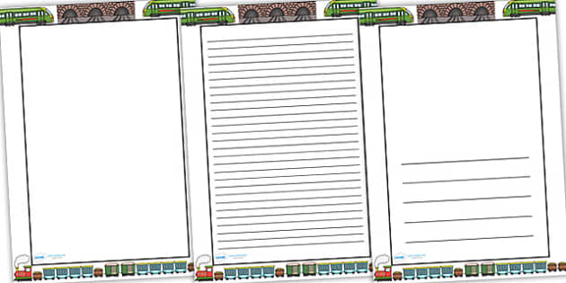 Train Themed Page Borders border page border a4 border – Border Paper Template