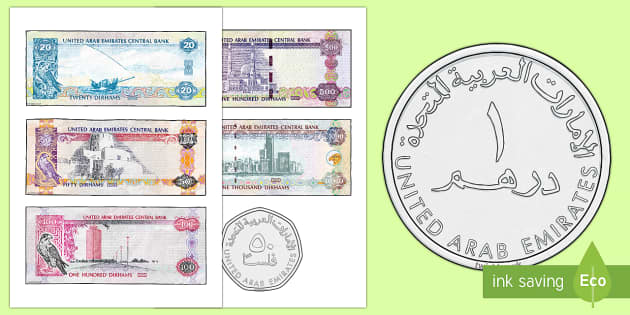 UAE Money Cut-Outs