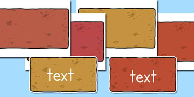 Editable Display Bricks - bricks, editable, words, letters, numbers, display, blocks