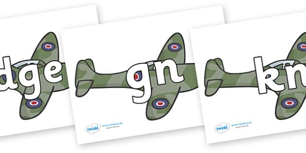 Silent Letters on Planes - Silent Letters, silent letter, letter blend, consonant, consonants, digraph, trigraph, A-Z letters, literacy, alphabet, letters, alternative sounds