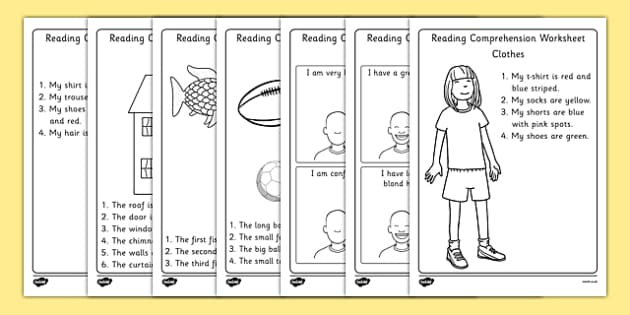 Reading Comprehension Worksheets - reading comprehension