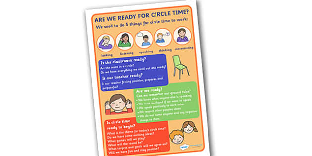 Circle Time Poster - circle, time, poster, sign, circle time, display, rules, rule, SEN, behaviour management, PSHE, SEAL, carpet time, circle, good sitting