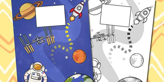 Space Themed Calendar Template - spring, calendar, template