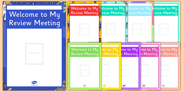 Welcome to My Review Meeting Poster - welcome, review, meeting, poster, display