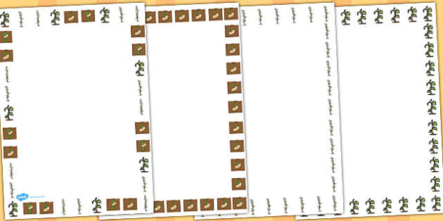 Bean Life Cycle Page Borders - Australia, Bean, Life, Cycle, Page