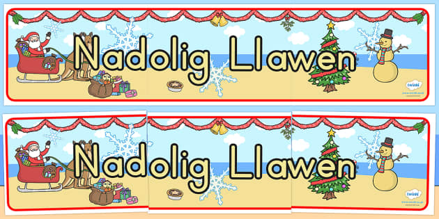 Australia Christmas Display Banner Welsh - christmas, banner, welsh, xmas