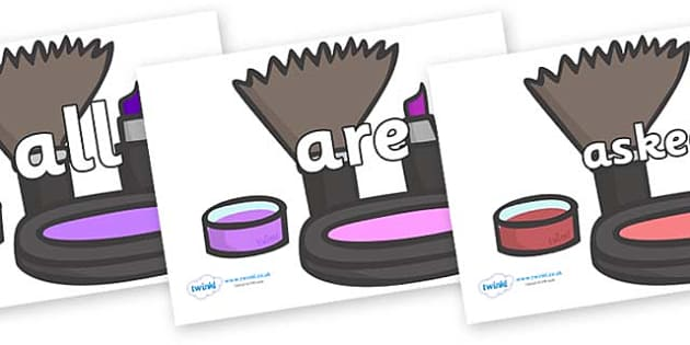 Tricky Words on Make Up - Tricky words, DfES Letters and Sounds, Letters and sounds, display, words