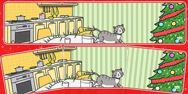 Christmas Cat Themed Editable Display Banner - christmas cat, cat, christmas, themed, editable, display, banner, mog
