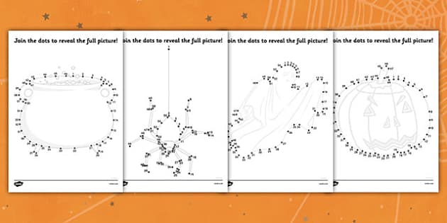 Halloween Dot to Dot Activity Sheet Pack - Halloween Dot to Dot Activity Sheets, Halloween, pumpkin, witch, dot to dot sheets pirates, dot to dot, sheets, fine motor skills, drawing, game, activity, draw, line, bat, scary, black cat, mummy, grave sto