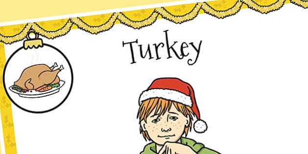 A4 British Sign Language Sign for Turkey Left Handed - turkey