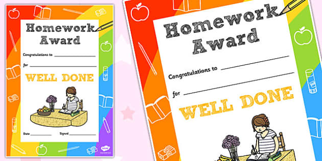 Homework Decorative Certificate - homework, certificate, home
