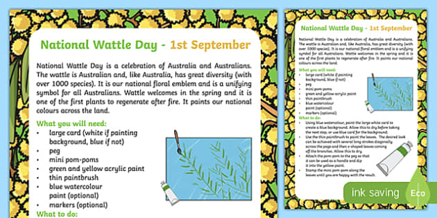 Wattle Day Art Activity