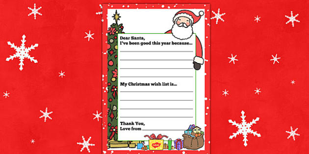 My Christmas Wish Letter To Santa - christmas wish, letter to, santa, father christmas, christmas