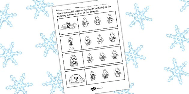 Polar Regions Themed Capital Letter Writing Activity Sheet - polar