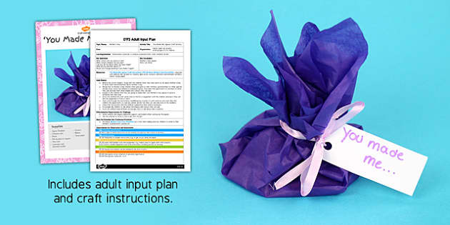 You Made Me Jigsaw Craft EYFS Adult Input Plan and Resource Pack - adult led, plan