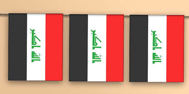 Iraq Flag Bunting - iraq flag, iraq, flag, bunting, display bunting, display
