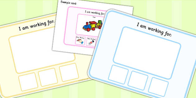 I Am Working For Support Cards - class management, word cards