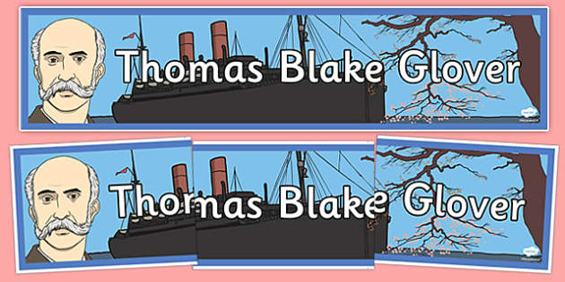 Thomas Blake Glover Display Banner - thomas blake glover, display banner, display, banner
