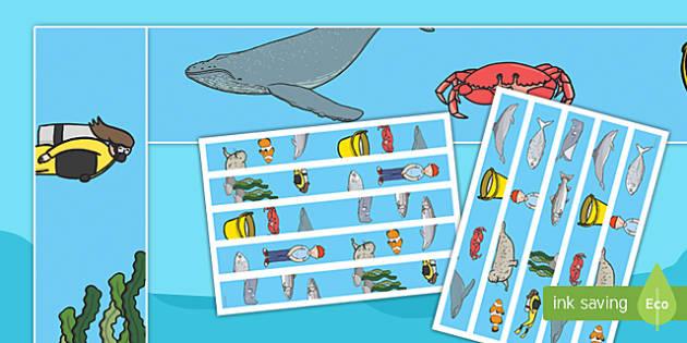 Sea Bucket Display Borders - billy's bucket, sea bucket, display borders, display, borders, boards, classroom