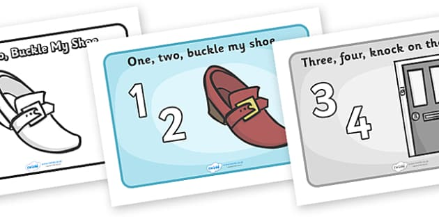 One Two Buckle My Shoe Sequencing (A4) - One, Two, Buckle My