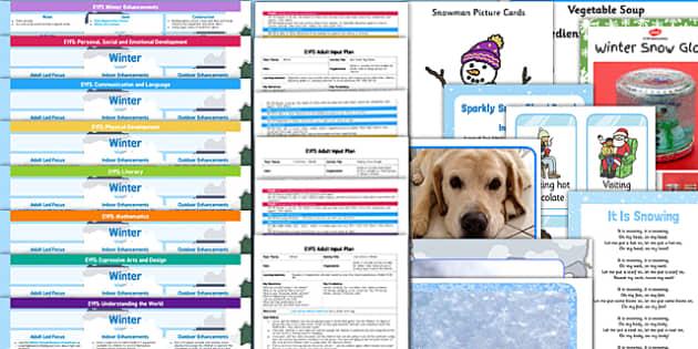 EYFS Winter Themed Lesson Plan Enhancement Ideas and Resources Pack - winter, EYFS, lesson plan, enhancement, ideas, pack