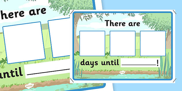 Countdown Chart Display Poster A4 - countdown, calendar, chart, display poster, display, poster