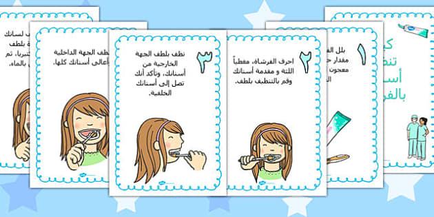 ملصقات عرض كيف تنظف أسنانك - تنظيف الأسنان، الأسنان، موارد
