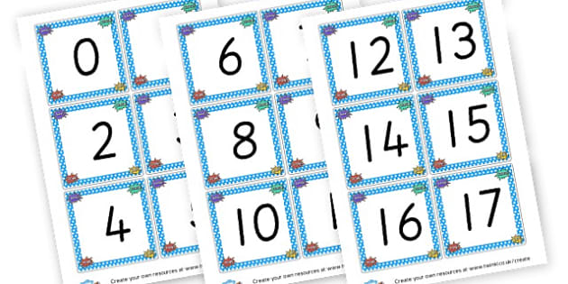 Superhero Number Cards 0-20 - Superheroes Numeracy Primary Resources,  Superheroes, Numeracy