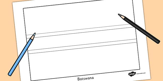 Botswana Flag Colouring Sheet - countries, geography, flags