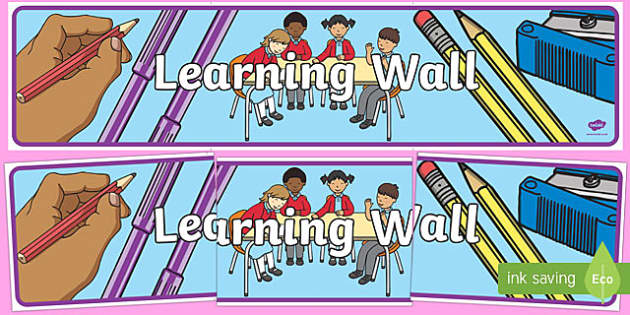 Learning Wall Display Banner-learning wall, display banner, learning wall banner, display header, header, class management, wall of learning