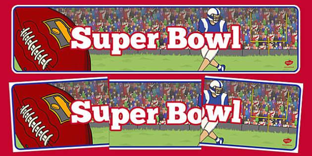 Super Bowl Display Banner - usa, super bowl, display banner, display, banner